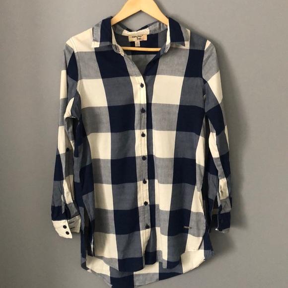 EUC Long Plaid Shirt